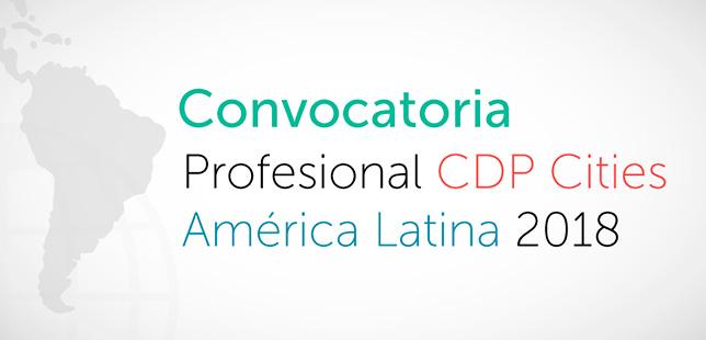 Asistente Temporal Para El Programa CDP Cities América Latina 2018
