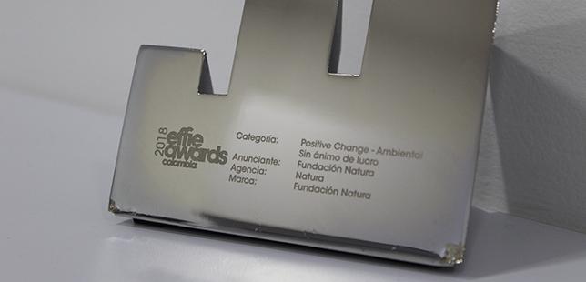 Fundación Natura Recibe El Effie Award En La Categoría Positive Change-Ambiental
