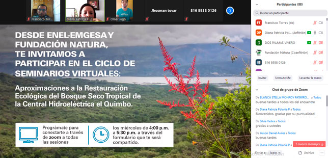 Con Buena Acogida Se Inició Ciclo De Seminarios Web Sobre Aproximaciones A La Restauración Ecológica Del Bosque Seco Tropical